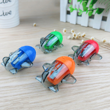 1pc Mini Kawaii Candy Color Aircraft Airplane Shape Mechanical Pencil Sharpener Knife Papeleria Sacapuntas Office School Decor