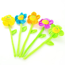 Flexible diy flowers smiling face valentine day plush flower Decorative Flowers Wreaths the curtain accessories cp003A(China)