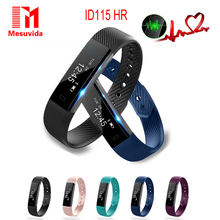 Smart Band ID115 HR Bluetooth Wristband Heart Rate Monitor Fitness Tracker Pedometer ID115 Smart Bracelet For Phone PK Mi Band 2