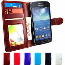 GT-S7272 Case Flip Phone Leather Cover For Samsung Galaxy Ace 3 GT-S7270 Case S7275 GT S7270 S7272 Ace3 LTE Back Cover Wallet