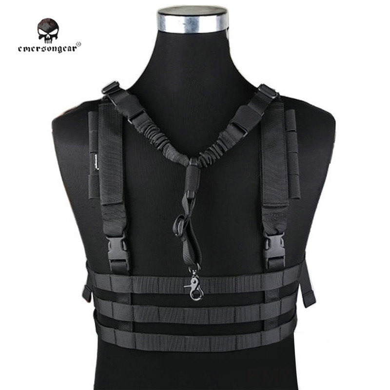 EMERSON Army Wargame Tactical Vest Outdoor Hunting Molle Chest Rig Military Body Armor Combat Gear Low Profile CS Equipment<br>