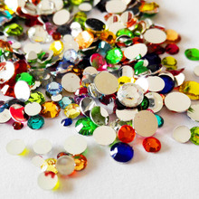 Rhinestone Nail Mix Acrylic Rhinestones for Nails Design Nail Art Rhinestones Manicure Strass Ongles 3D Nail Jewelry ZJ11700(China)