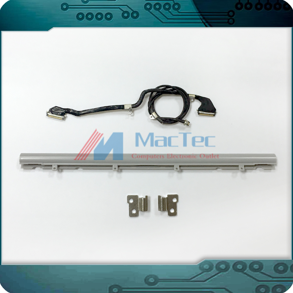 New Original A1237 A1304 LCD LED LVDS Screen Cable + LCD Hinge Cover + Hinge Clutch for Apple Macbook Air 13 2008 2009 Year<br>