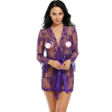 Buy Sexy Lingerie Robe Babydoll Dress Women Lingerie Sexy Hot Erotic Plus Size Nightwear Sex Costumes Kimono Bathrobe Dressing Gown