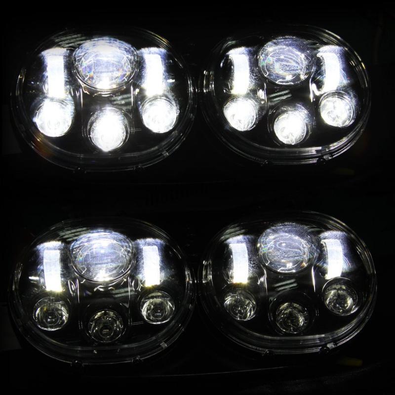 FADUIES 5.75 inch dual LED headlamps Harley Motorcycle 5 34 90W Led Motorcycle headlight For harley-davidson Road Glide dual (18)