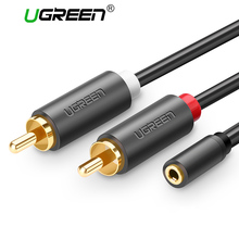 Ugreen RCA Cable 2 RCA Male to Female 3.5mm Jack Adapter Aduio Cable Aux Cable for iPhone Edifer Home Theater DVD VCD Headphones(China)