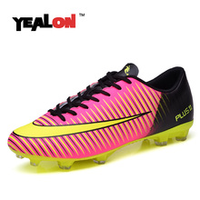 YEALON Soccer Shoes Men Kids Chuteira Futebol Original Soccer Cleat Superfly Football Boots Men Sneakers Superfly Men Breathable