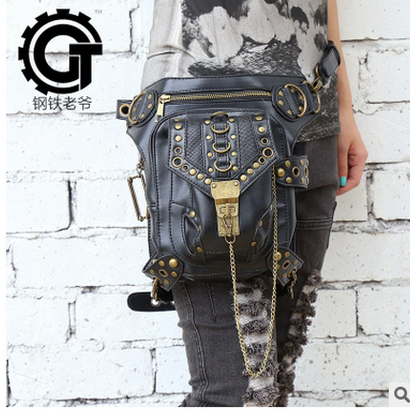 Carteras mujer women bag Motor leg Outlaw Pack Thigh Holster Protected Purse Shoulder Backpack Purse thigh bag Steam punk bag<br><br>Aliexpress