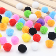 15mm 100PCS/Lot  Christmas hat decoration Children's educational toys Manual materials wholesale Multicolor wool ball