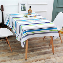 Color Striped And Mushroom Pattern Table Cloth Waterproof Table clothes Wedding Party Decoration Oilproof Tables Cover(China)