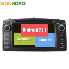 Android 7.1.1 Quad Core 2Din Car DVD GPS Navigation For Corolla E120 BYD F3 Capacitive Screen WIFI 3G USB Car Radio Video FM RDS