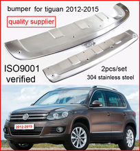 skid plate/bumper guard bumper protector for VW Tiguan 2012 2013 2014 2015 2016, 2pcs/set,304 stainless steel,promotion price(China)
