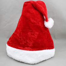 2017 Christmas Santa Hat Red Hats For Christmas Decoration&Santa Claus Costume Christmas Party Supplies z30(China)