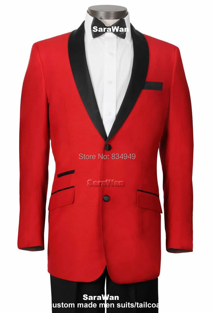 Black And Red Suit Jacket - Hardon Clothes