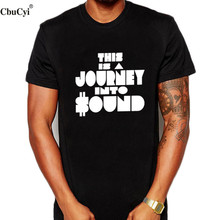 Hipster Dj Men T Shirt This Is A Journey Into Sound Funny Letters Printed t-shirt Harajuku streetwear hip hop Clothing(China)