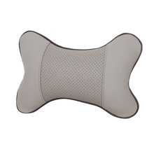 1PC Perforating Design Artificial Leather Hole-digging Car Headrest Supplies Neck Auto Safety Accessories Car Styling(China)