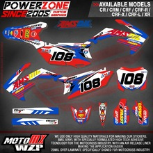 Customized Team Graphics Backgrounds Decals 3M AMS Stickers CRF 250 450 R X CRF250 CRF450 CRF250L MX Enduro Racing Dirt Bike - PowerZone Co.,Ltd store