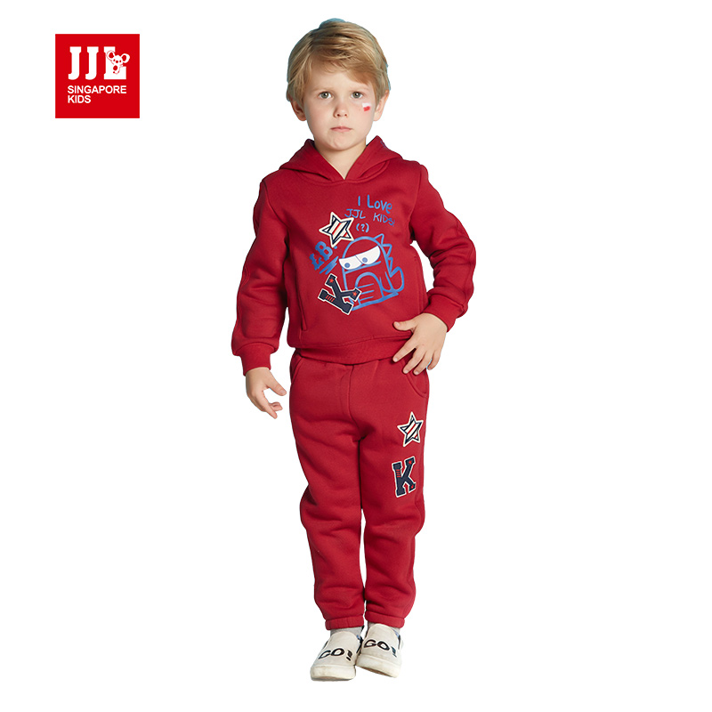 red boys winter suits kids clothing sets 2017 kids clothes boys clothing kids sets sweatshirt+trackpants warm linging<br><br>Aliexpress