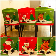 Christmas Chair Cover Red Hat Chair Covers Hot Selling Home Party Table Decor Chair Covers(China)