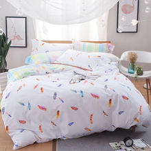 Svetanya Feather Printing Bedclothes Brand New Bedding Sets Twin Full Queen Size Doona Duvet Cover Set 100% Cotton Bedlinen