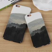 Beautiful Mountain Forest Plastic Hard Phone Case For iPhone 6 6S 7 Plus Fashion Cases Coque Funda For iphone7 Back Cover Capa(China)