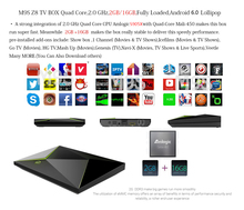 20pcs/lots DHL free M9S-Z8 2gb/16gb Android6.0 tv box Ethernet 1000M Bluetooth 4.0 Media Player(China)