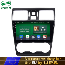 GreenYi Octa Core Android 6.0 or 7.1 Car DVD Player For Subaru WRX Forester 2014 2015 2016 With GPS Navigation Bluetooth 4G TV(China)