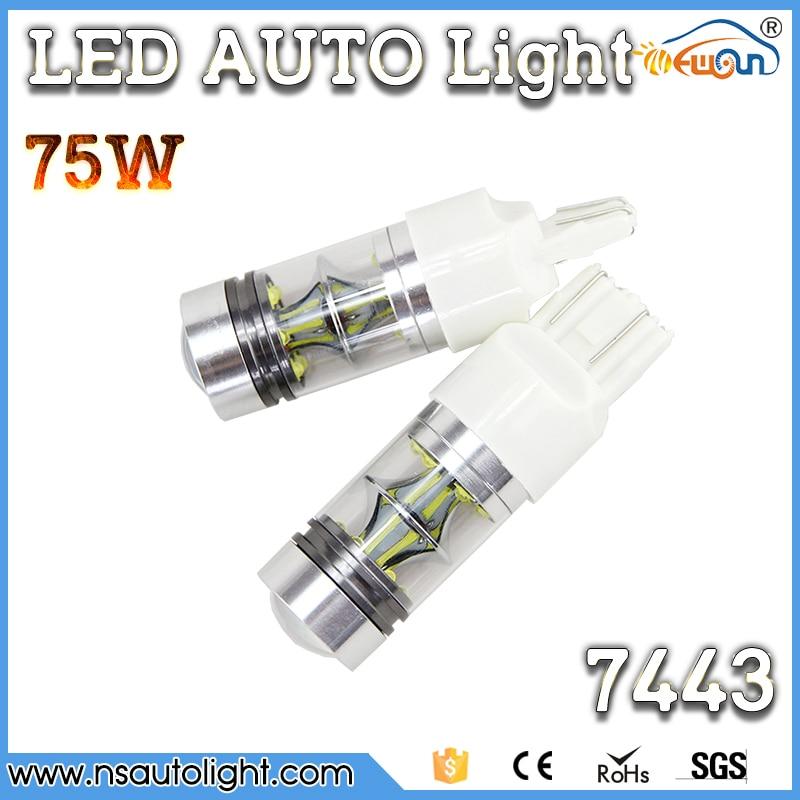 Wholesale 12v 24v 75w led car bulb t20 7443 w21/5w cree  led chips auto led bulb for car led brake light<br><br>Aliexpress