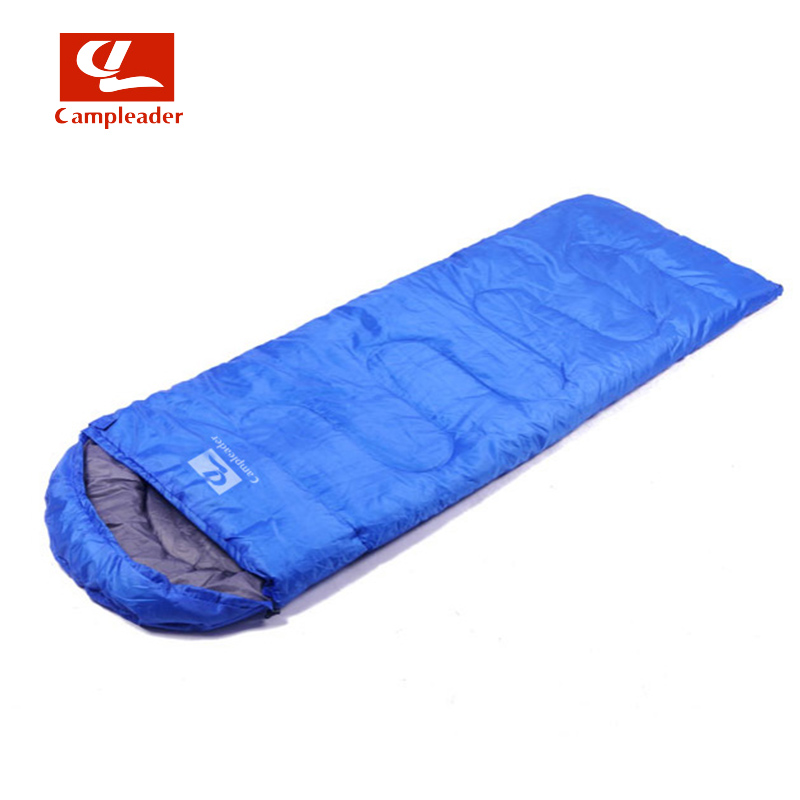Campleader Hot camping Sleeping bag for spring &amp; Summer adult children envelope hooded cotton 3 Season Sleeping Bag For Travel<br>