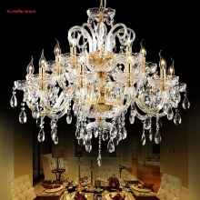 2017 new Luxurious Large Export K9 Gold Crystal Chandelier Arms Lustres De Cristal Chandelier LED chandelier  European Style