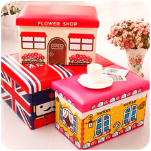 Children's toys cartoon stool / stool / storage stool / folding can take Multifunctional Storage Box