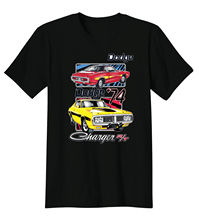 Gildan Dodge Charger 74 Classic Muscle Car Old School Hot Rat Rod Auto T-Shirt Tee