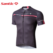 Buy Santic Men Cycling Short Jersey Pro Fit SANTIC N-FEEL Antislip Sleeve Cuff Road Bike MTB Short Sleeve Riding Shirt M7C02107G for $41.00 in AliExpress store