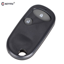 KEYYOU Car style Remote Key Fob Case Shell 2 Buttons for Honda Civic CRV Accord Jazz(China)
