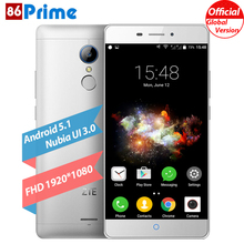 Original ZTE v5 pro N939SC Mobile Phone 5.5 Inch 2G RAM 16G ROM Android 5.1 Cell Phone Fingerprint ID 13MP Camera Smartphone(China)