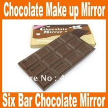 Lovely Six Bar Mini Fashion Chocolate Mirror Girls/Ladies Cosmetic Mirror Make up Mirror pocket mirror