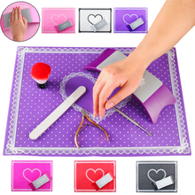 Silicone Nail Art Mat Hand Arm Rest Nail Pillow Manicure Salon Nail Polish Holder Table Mat Pad Cushion Nail Tools Professional(China)