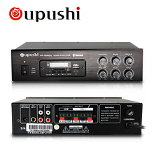 Hot Selling Oupushi 70 / 100V PA Tube Amplifier Bluetooth 60W, 80W Home Backround Mini Audio Amplifier Board With Remote Control(China)