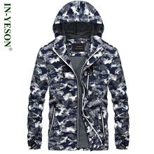 IN-YESON Brand Military Camouflage Jacket Men Simple Design Army Style Zipper Spring Autumn Camo Hooded Coat - L&A Clothing Manufacturing Co., Ltd store