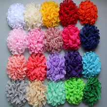 20pcs/lot 4inch 24colors Vintage Burn Eage Chiffon Flowers For Children Hair Accessories Artificial Fabric Flowers For Headbands(China)