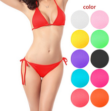 2017 Simple Design Women Swimwear Sexy Bikinis Thong Bottom Bathing Suit Push Up Brazilian Bikini Solid Color Swimsuits BB55