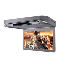 "13.3"" Gray Color Flip Down Car DVD Car Roof DVD Roof Mount Car DVD with 1920*1080 HD Resolution & 2 IR/FM Headphones"