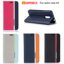 Karribeca flip wallet leather case For xiaomi redmi note 4X colorful tone phone cover redmi Note4x funda coque capas etui puzdra