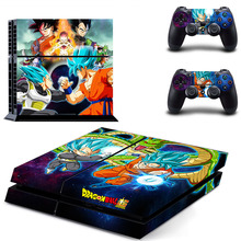 New Dragon Ball Vinyl Skin For Playstation 4 Console Sticker + 2 Controller Decal Skins Sticker PS4 Accessories