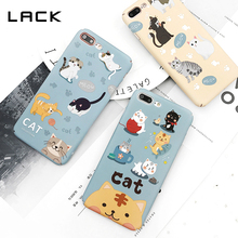 LACK Lovely Cat Phone Case For iphone 7 Case Cartoon Animal Letter Coque For iphone 7 7Plus Cute Balloon Hard Matte Cover