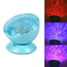New Brand LED Night Lamp Ocean Music Projector Lamp Colorful LED Night Light With Remote Control For Kid Gift(China)