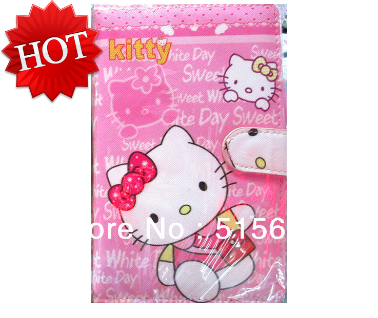 New cartoon Hello Kitty USB Keyboard Touch Pen Protective Leather Case Stand Cover for 7 inch Tablet PC<br><br>Aliexpress