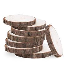 Natural Wood Log Slices Discs for DIY Crafts Wedding Centerpieces Christmas DIY Accessories Wooden Supplies Decoration(China)