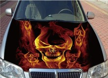 12 Designs CUSTOMIZED Car Engine Hood Sticker Styling Fire Horse Running Head Roof Decal Decor Vinyl Waterproof Covers