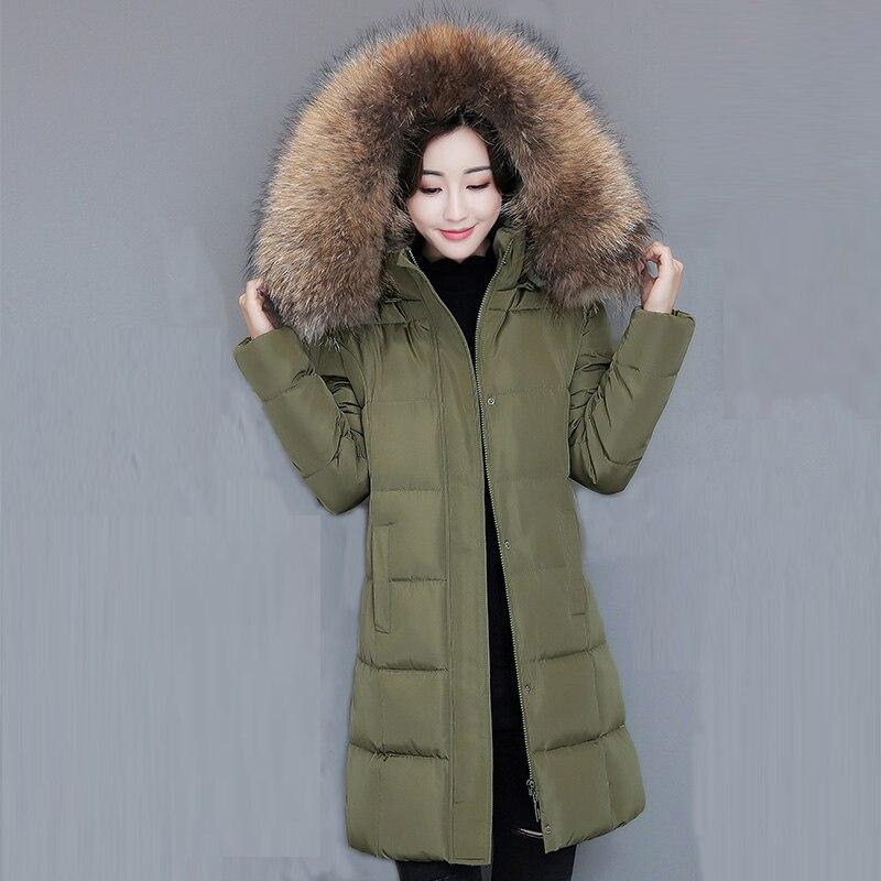 2017 Winter Wadded Parka Women Padded Long Cotton Coat Faux Fur Collar Female Jackets Winter Hooded Cotton Coats Overcoat FP0008Îäåæäà è àêñåññóàðû<br><br>